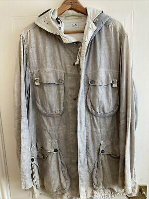 £200 • Buy Mens Used CP Company White/Grey Goggle Jacket Size 54 Good Condition