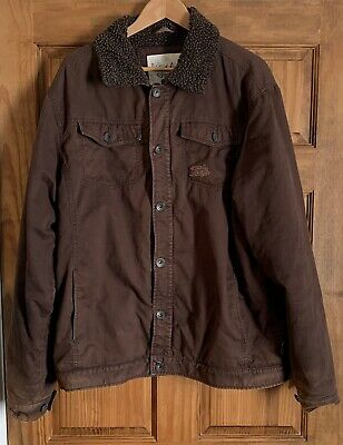 £9.99 • Buy Mens Weird Fish Heavyweight Brown Corduroy Faux Fur Lined Jacket Size L
