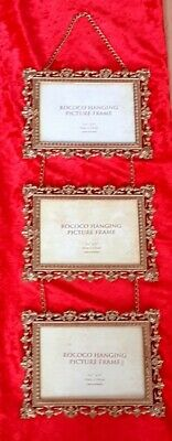 £24.95 • Buy Past Times Rococo Triple Picture Frame Gold Plated Wall Hanging Collage Photo