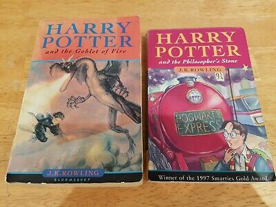 £13.95 • Buy 2 Rare Harry Potter Books Young Wizard Version + The Goblet Of Fire 1st Editions