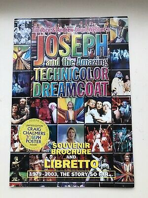 £6.95 • Buy JOSEPH AND THE AMAZING TECHNICOLOR DREAMCOAT Musical Large Programme & Libretto