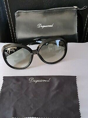£80 • Buy DSQUARED Sunglasses - DQ-0051 01B Black - Made In Italy