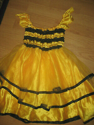 £4.39 • Buy Girls Halloween Complete Costume Bumble Bee Dress Old Navy 5-6 Stretch