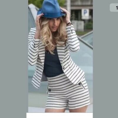 £60 • Buy Zara Navy And White Striped Blazer And Shorts. Buy Together Or Separate. Size L