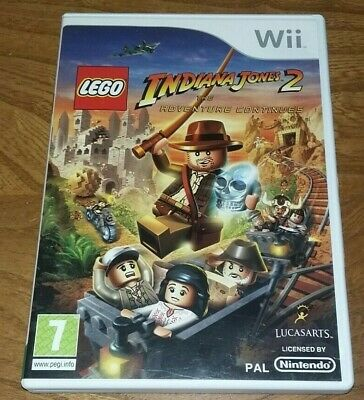 £4 • Buy LEGO INDIANA JONES 2  THE ADVENTURE CONTINUES - NINTENDO Wii - WITH MANUAL