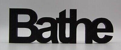 £10.99 • Buy  Bathe  Word Ornament In Arial Font - 7x21x1.5cm - Various Colours