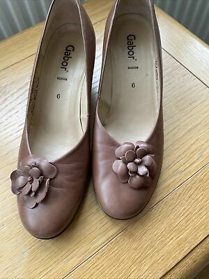 £15 • Buy  GABOR  FASHION Brown Leather WEDGE Pumps  Court Shoes UK 6. 2 Inch Heel.