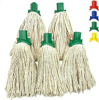 £8.99 • Buy 5x Cotton Mop Heads Replacement Floor Multi Fit Heavy Duty Cleaning Kitchen Home