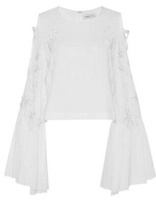 AU105 • Buy Alice Mccall A Love Like That Emboidery White Cold Shoulder Blouse Top 8 AUS/UK