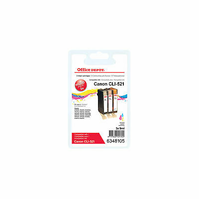 £16.79 • Buy Office Depot Compatible Canon CLI 521C M Y Ink Cartridge Cyan  Magenta  Yellow P
