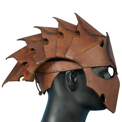 £49 • Buy Quality Leather Assassins Helmet Perfect For Stage Costume Or LARP 2 Colours ###
