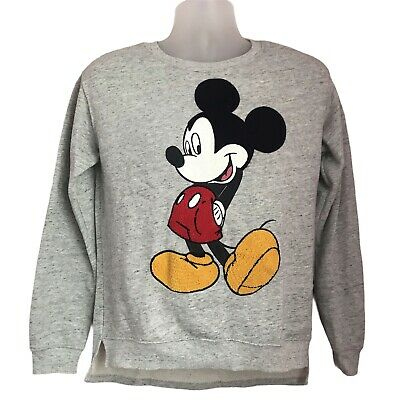 £12.99 • Buy Disney Mickey Mouse Mens Size Small Grey Sweater Sweatshirt Jumper 21  Pit To Pi