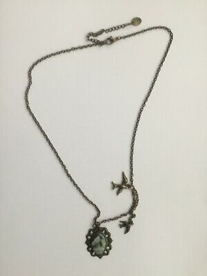 """£1.30 • Buy Ladies Necklace 20"""" Chain. Cameo Style Pendant Showing A Butterfly."""