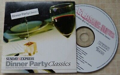 £1 • Buy DINNER PARTY CLASSICS By THE ROYAL PHILHARMONIC ORCHESTRA - SUNDAY EXPRESS CD