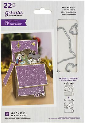 £13.59 • Buy Crafter's Companion Gemini Stamps & Dies-Away In A Manger