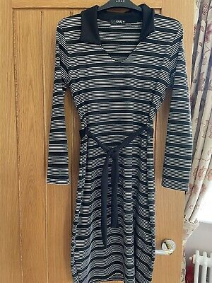 £5 • Buy Ladies Quiz Belted Black &white Striped Belted Dress Size 14 Exc Con