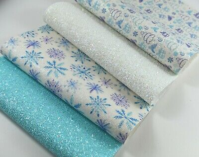 £4 • Buy LIMITED EDITION Glittery Frozen Ice Christmas Snowflakes, Trees