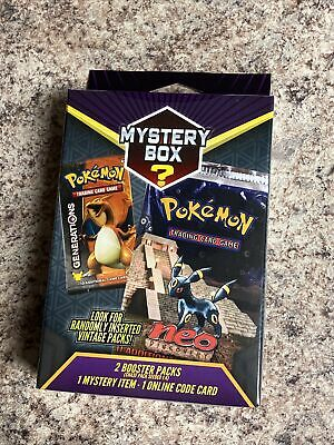 $49.98 • Buy 2021 Pokemon Mystery Power Box Vintage Chase Pack Seeded 1:4 Factory Sealed