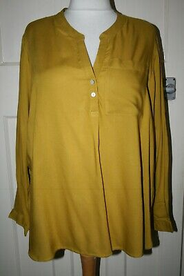 £3.99 • Buy Bnwot Size 24 Ex-m&s Mustard Lightweight Tunic Top With Longer Back