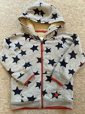 £7.50 • Buy Boys Boden Sherpa Lined Grey Hoodie Age 4-5 Years