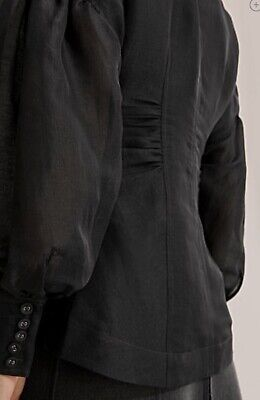 AU75 • Buy New Country Road Silk Exaggerated Sleeve  Shirt - Size 16