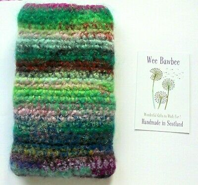 £21 • Buy Large Felted Crochet Wool Phone Sock/Pouch/Case 🌺 Apple Iphone*Samsung Galaxy