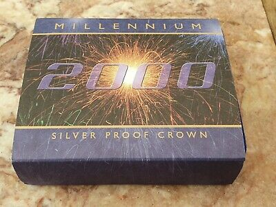 £20 • Buy Royal Mint 2000 Millennium Silver Proof Five Pound £5 Cased With Coa,booklet **