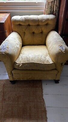 £20 • Buy Vintage Victorian Style Upholstered Arm Chair In Need Of Tlc