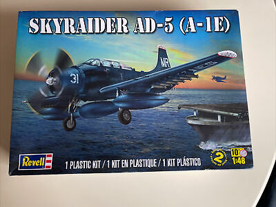 £8.10 • Buy REVELL 85-5327 SKYRAIDER AD-5 (A-1E) 1:48 Scale Plastic Model Kit 130 Parts
