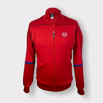 £29.99 • Buy Sergio Tacchini Tracksuit Top Bomber Track Jacket Men's Red Size L Retro 80's