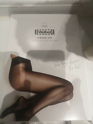 £17.95 • Buy Wolford Neon 40 Tights/Pantyhose Coca (Rich Brown Colour) Size Small