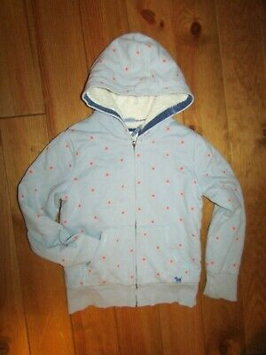 £1.99 • Buy Girls Blue/pink Spotty Fleece Lined Hooded Hoodie From Mini Boden Age 9-10yrs