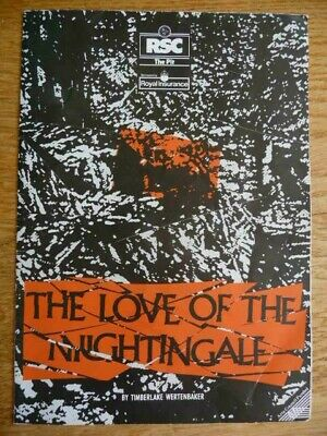 £3.75 • Buy The Love Of The Nightingale 1989 Programme Rsc At The Pit, London