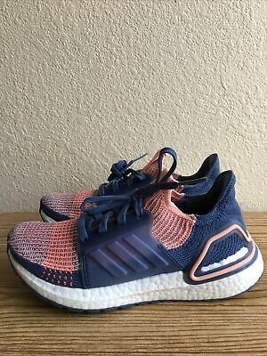 AU27.45 • Buy Adidas Women's Ultraboost 19 G54013 Pink Blue Running Shoes Lace Up SZ 6.5 Pre-O