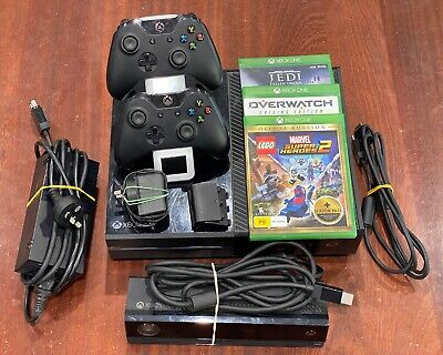 AU265 • Buy Microsoft Xbox One 500GB Console, Kinect, 2 Controllers, Charging Stand, 3 Games