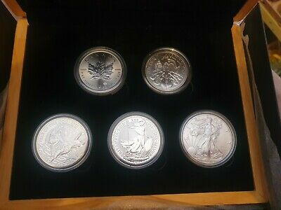£149.99 • Buy 2018 1oz Silver Five Coin Set Gifted Boxed