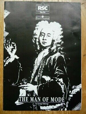 £4.95 • Buy The Man Of Mode Rsc Theatre Programme 1989 The Pit, Barbican Simon Russell Beale