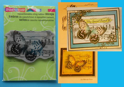 £3.99 • Buy BUTTERFLY TUNE  Stampendous CLING MOUNTED RUBBER STAMP CRP223  CLEARANCE