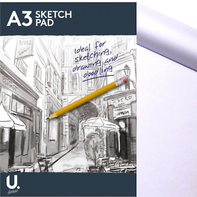 £5.90 • Buy A3 Sketch Pad Book White Paper Artist Sketching Drawing Doodling Art Painting