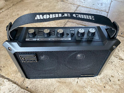AU222.52 • Buy ROLAND Mobile Cube PORTABLE Battery/mains Stereo AMPLIFIER Busking GREAT SOUND