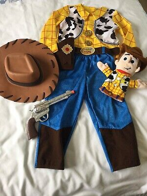 £10 • Buy Disney Store Toy Story Woody Costume Age 3-4 Inc Hat And Glove Puppet