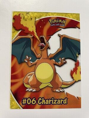 $15 • Buy 2000 Topps Pokemon TV Animation Edition #06 Charizard PC3 Clear Acetate Card NM