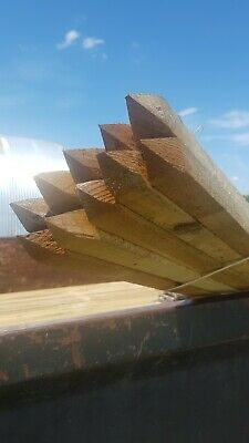 £20 • Buy 10 X 1.8m 6ft Square & Pointed Wooden Pressure Treated Tree Stakes Posts Wood