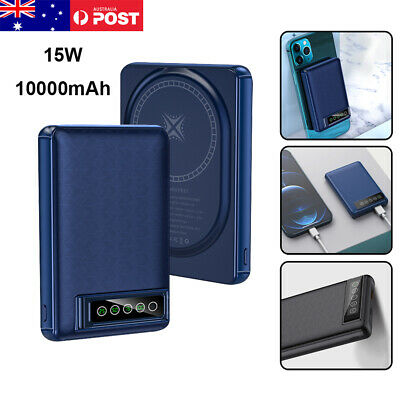 AU46.95 • Buy 10000mAh Portable Wireless Power Bank Magnetic Fast Charger For IPhone 13 ProMax