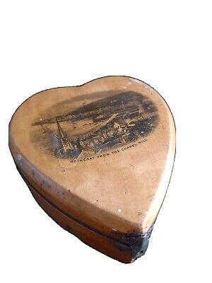 £9 • Buy Rothesay Hill Beautiful Old Heart Shaped Box