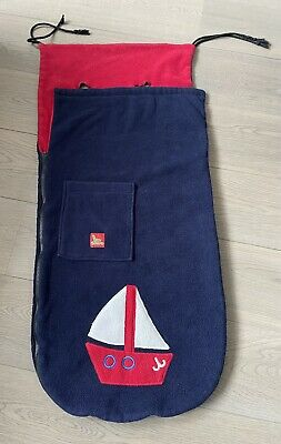 £5 • Buy Buggy Snuggle Footmuff Boat Navy And Red Pushchair