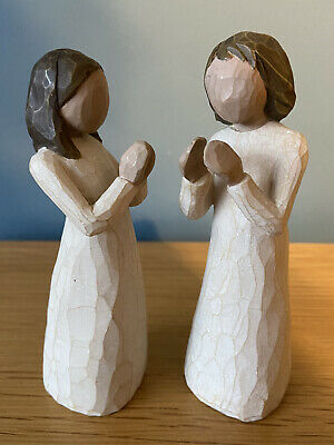 £10 • Buy Willow Tree Sisters By Heart Approx 13 Cms Tall