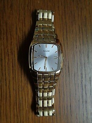 £65 • Buy A Superb Accurist Model Mb 727 Mens Gold Tone Dress Watch.