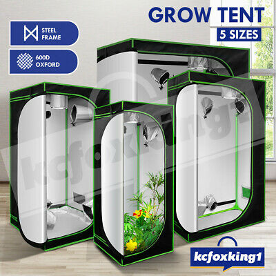 AU74.29 • Buy Hydroponic Grow Tent Indoor Plant Grow Room 600D Oxford Reflective Grow System