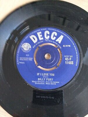 £1 • Buy Decca - Billy Fury - 45 Rpm 7  Single Vinyl Record - Once Upon A Dream